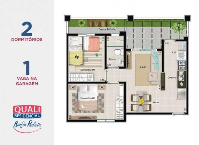 Quali Residencial - Apartamento de 2 quartos em Bonfim Paulista - Ribeirão Preto, SP - Foto 20