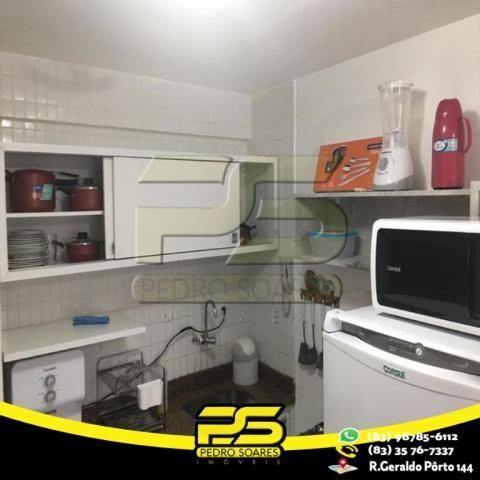 Flat com 1 dormitório para alugar, 1 m² por R$ 2.200,00/mês - Tambaú - João Pessoa/PB - Foto 7