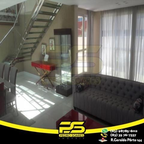 Casa com 4 dormitórios à venda, 460 m² por R$ 2.200.000,00 - Altiplano Cabo Branco - João  - Foto 10