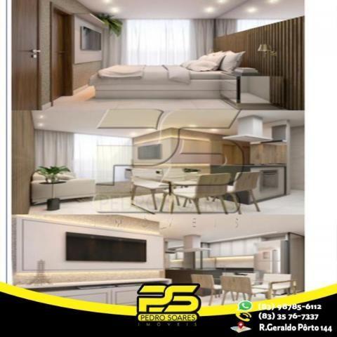 Flat com 3 dormitórios à venda, 60 m² por R$ 265.524 - Jardim Oceania - João Pessoa/PB - Foto 4