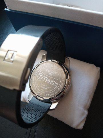 Relógio Tissot T-touch-ref. T33.1.598.51 /modelo: Z 252/352 - Foto 4