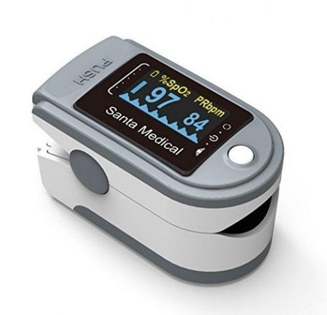 Oxímetro Medidor De Saturação e Frequência Cardíaca + 2 Pilhas AAA - Foto 6