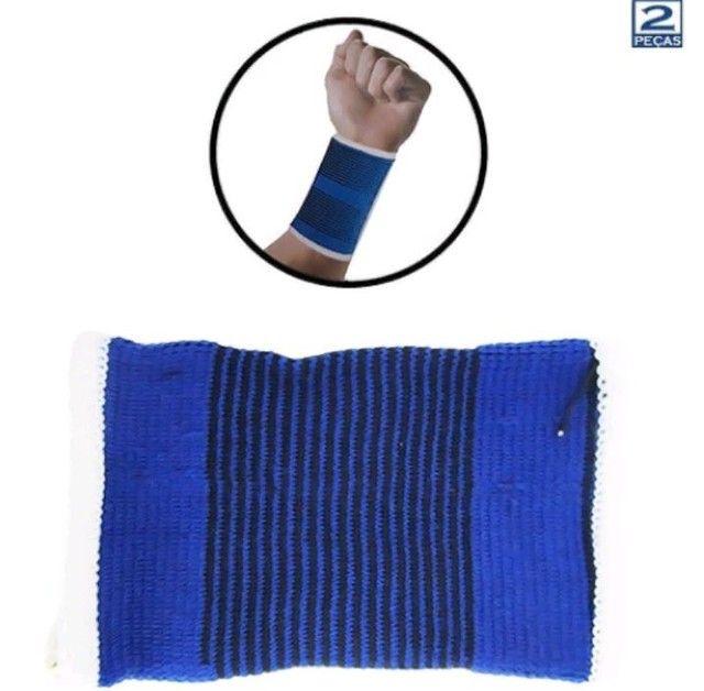 Munhequeira - Par de Protetor de Pulso Para Compressão - Foto 2