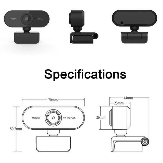 Full HD 1080 Webcam Microfone USB Mini Câmera De Visão 360º - Foto 3