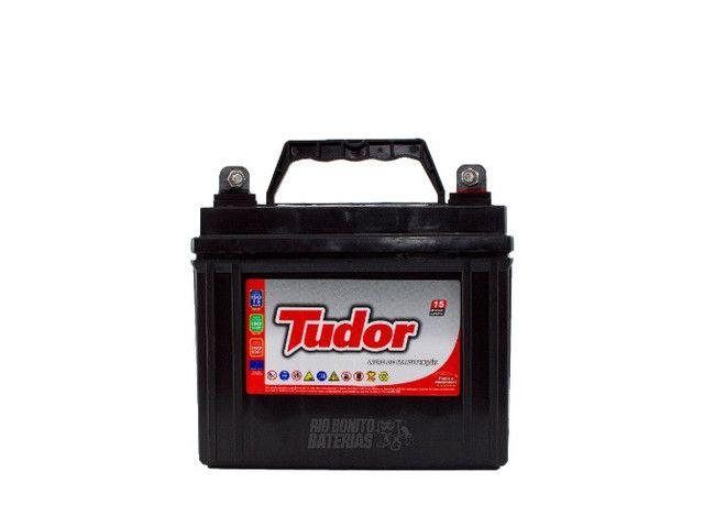 Bateria Tudor 30 Ah P/ Mini Trator Cortador De Grama  - Foto 3