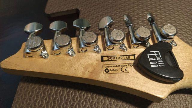 Guitarra Ibanez Grx40 HSS Branco Perolizado Captador Dimarzio Evolution - Foto 3