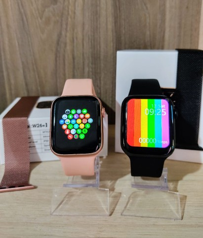 Smartwatch IWO W26+ PLUS + brinde pulseira metálica - Foto 2