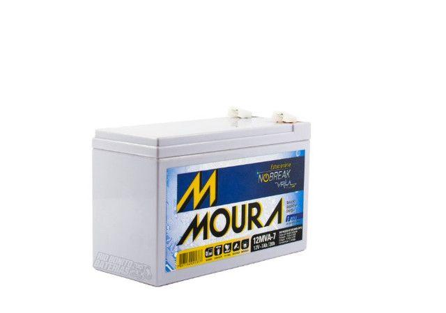 Bateria Estacionária (VRLA) Moura 12V 7 AH  - Foto 2