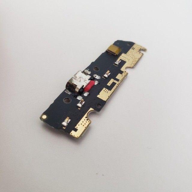 Conector quebrado - Placa Conector Carga Motorola Moto G6 Play XT1922-5 - Foto 4
