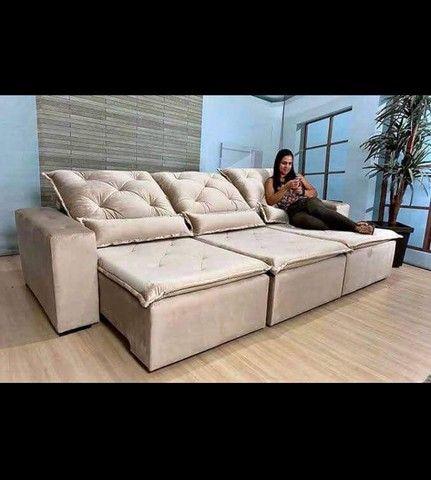Sofá Retrátil e Reclinável Super confortável Delta (2.90 de largura) - Foto 6