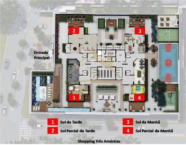 Apartamento com 4 quartos no Edifício American Diamond - Bairro Jardim das Américas em Cu - Foto 3