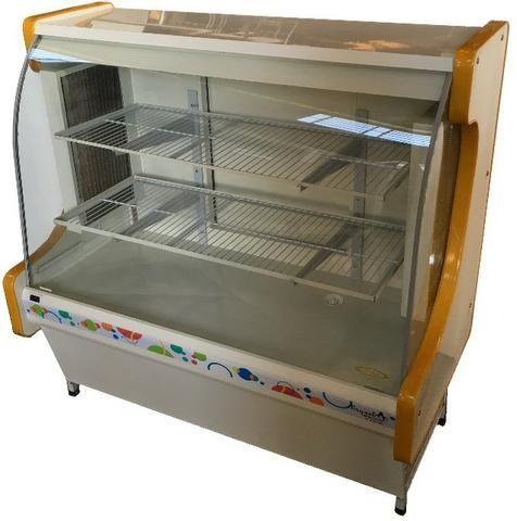 Balcão vitrine refrigerada confeitaria 1200 serpentina