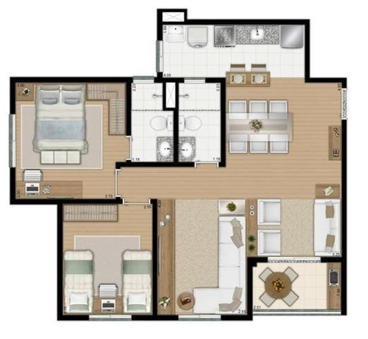 Apartamentos com 2 ou 3 dorms, suite e lazer completo em Diadema - Foto 18