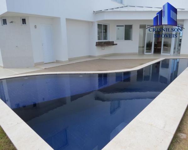 Casa à venda alphaville salvador ii, nova, r$ 2.400.000,00, piscina, espaço gourmet!