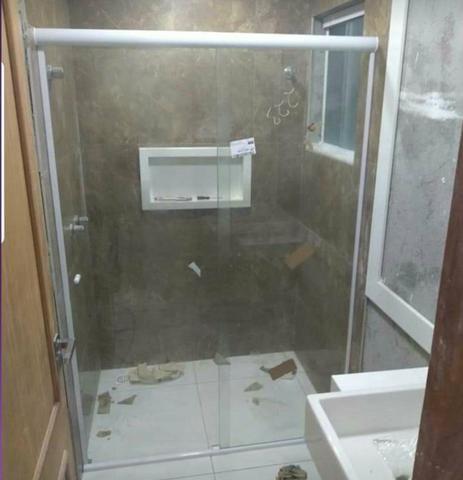 Box de banheiro promoção relâmpago 200.reais m2 avista estalado - Foto 3
