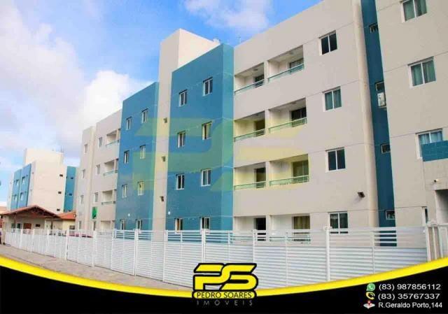 Apartamento novo, 02 quartos, piscina, churrasqueira, espaço gourmet, playground, 45,80m²  - Foto 2