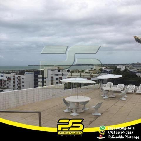 Flat com 1 dormitório para alugar, 1 m² por R$ 2.200,00/mês - Tambaú - João Pessoa/PB - Foto 16