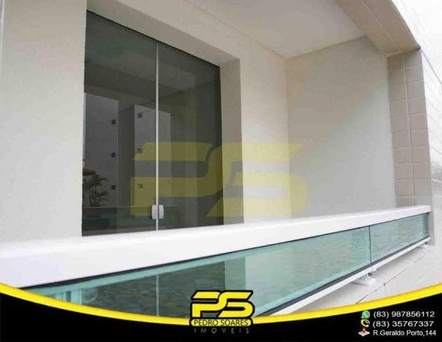 Apartamento novo, 02 quartos, piscina, churrasqueira, espaço gourmet, playground, 45,80m²  - Foto 14