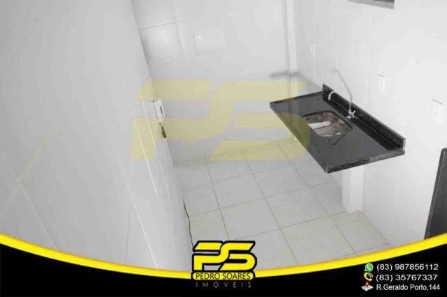 Apartamento novo, 02 quartos, piscina, churrasqueira, espaço gourmet, playground, 45,80m²  - Foto 9