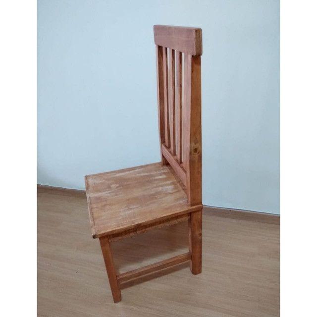 Kit com 6 Cadeiras de Madeira maciça 1,10cm
