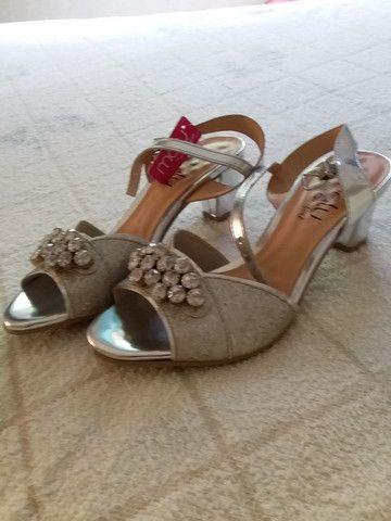 sandália prata - Foto 3
