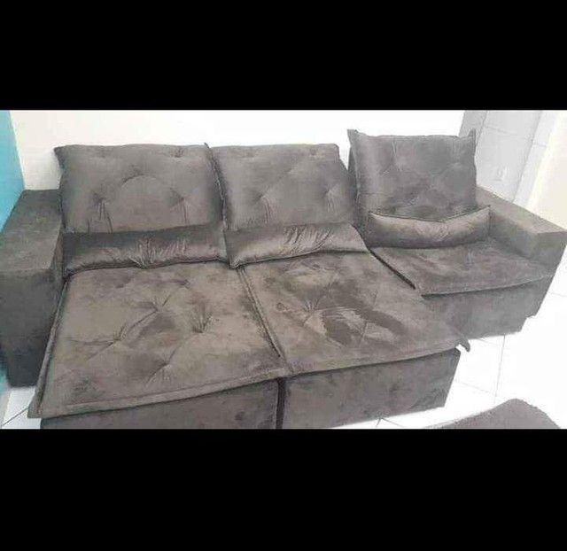 Sofá Retrátil e Reclinável Super confortável Delta (2.90 de largura) - Foto 5