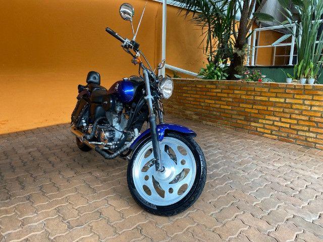 Moto Sundown V Blade Custom 2008 cheia de acessórios, apenas 3.000 Km!  - Foto 2