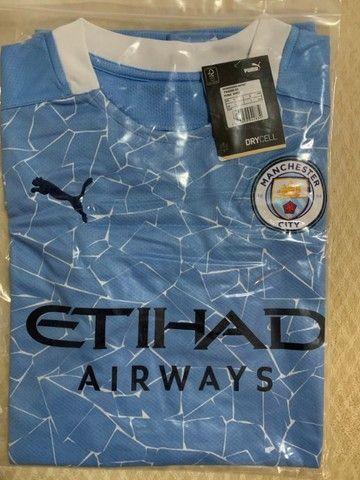 camisa manchester city azul - na embalagem - envio imediato - Foto 3
