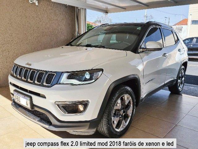 Jeep Compass 2018 Limited Branco Polar (perolizado) revisões na concessionária