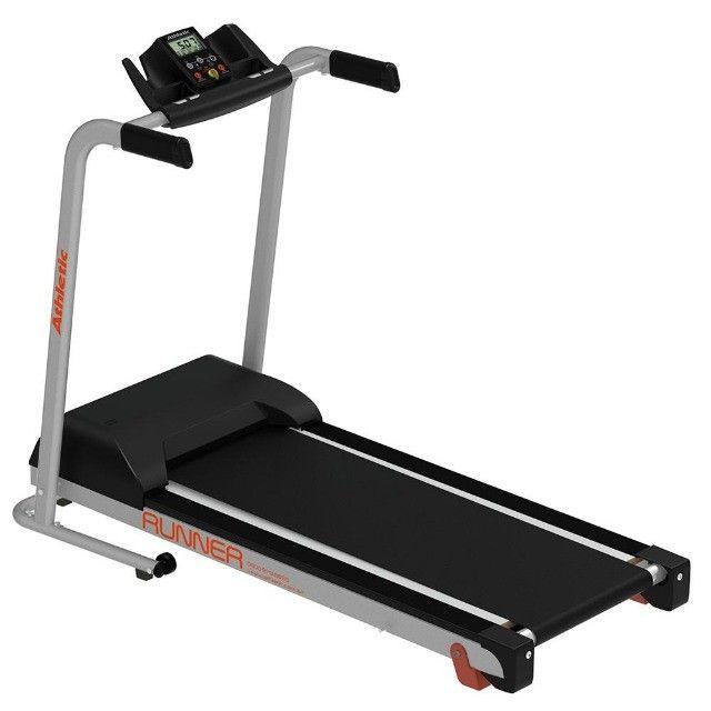 Esteira Athletic runner 14km/h - 120kg - inclinação manual - pronta entrega