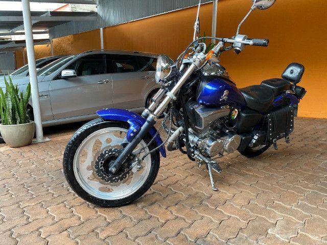 Moto Sundown V Blade Custom 2008 cheia de acessórios, apenas 3.000 Km!  - Foto 9