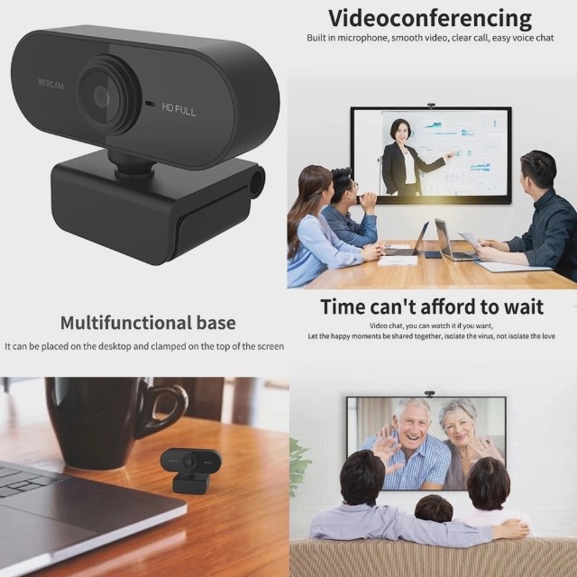 Full HD 1080 Webcam Microfone USB Mini Câmera De Visão 360º - Foto 5