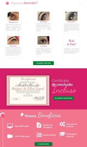 Extensão de Cílios - Curso Completo Online com Certificado - Foto 5
