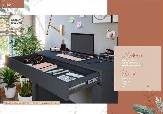Oferta do Dia!! Escrivaninha Mesa de Computador Cleo (Com Gavetão) - (Só R$199,00)