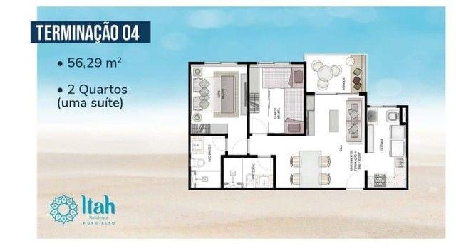 Flat com 2 dormitórios à venda, 56 m², térreo por R$ 630.000 - Praia Muro Alto, piscinas n - Foto 17