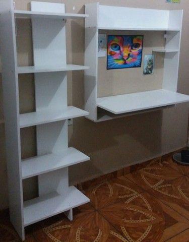 Kit estudo-Mesa e estante