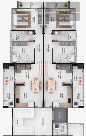 Apartamento com 2 dormitórios à venda, 48 m² por R$ 195.000 - Bom Retiro - Joinville/SC - Foto 3