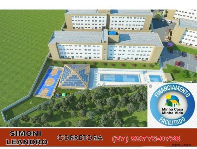 SCL - 34 - Apartamento 2 quartos, quintal, lazer completo, elevador, (entrada facilitada) - Foto 2