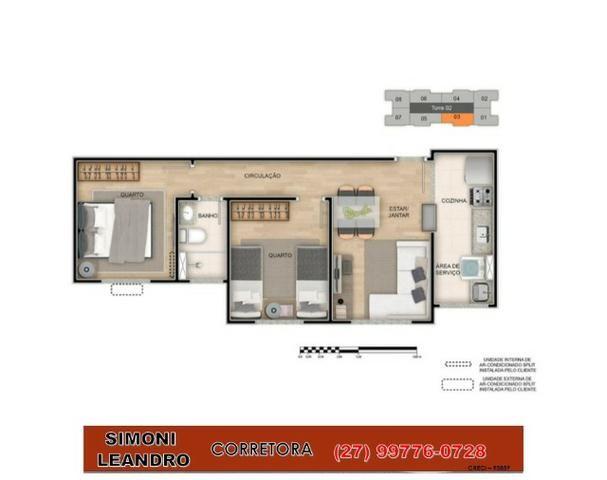 SCL - 75 - Boa Esperança/ Apartamento 2quartos / 33m² a 42m²/ lazer completo/ elevador/ - Foto 2