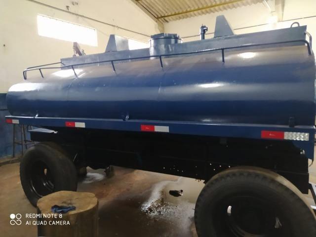 Carreta tanque para trator capacidade de 7 mil litros - Foto 2