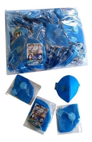 Máscaras PFF2 com válvula - Marca Alted - Cx com 100 unidades NF+ Boleto a vista. - Foto 2