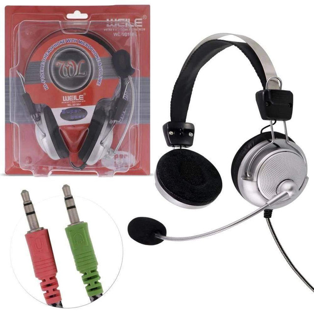 Fone de ouvido headset com microfone para video chamada sy-301