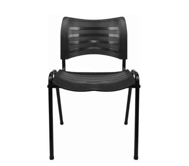 Cadeira Secretária em Polipropileno Preta