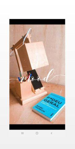 Luminária em madeira - Foto 3