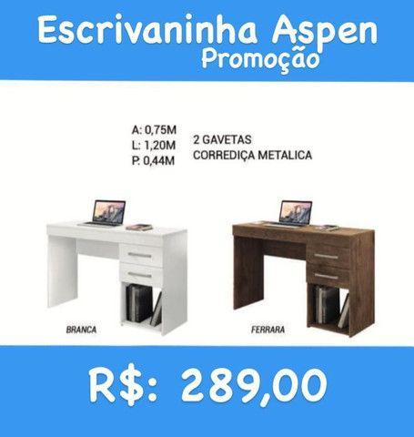 PROMOÇÃO Escrivaninha branco Max entrega emontagem gratuita Goiâniae região