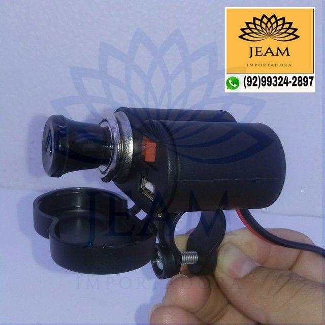 Carregador de Celular Gps Para Moto <br> - Foto 2