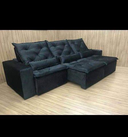 Sofá Retrátil e Reclinável Super confortável Delta (2.90 de largura) - Foto 2