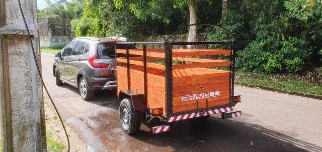 Reboque Carrocinha Dupla carga da BRAVOLLI ' Novidade para empresas e empreendedor  - Foto 5