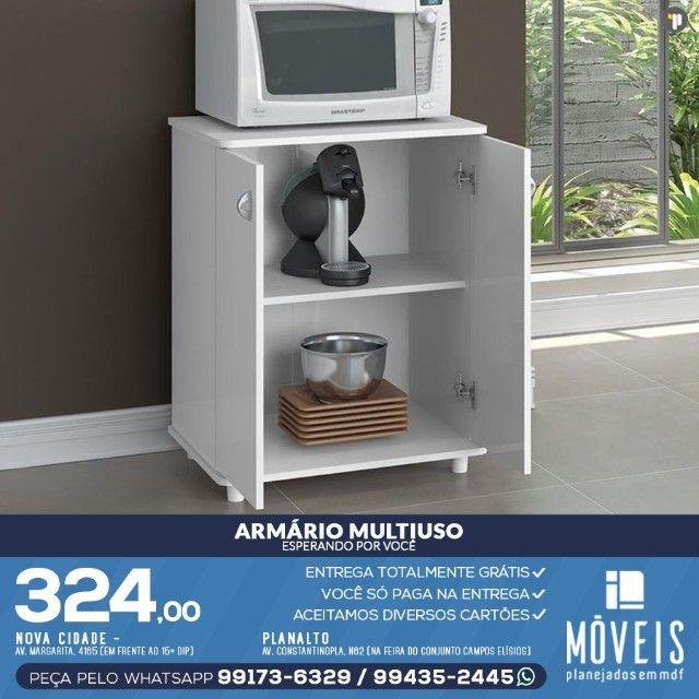 Armário para cooktop, forno e microondas 100% em MDF - Foto 5