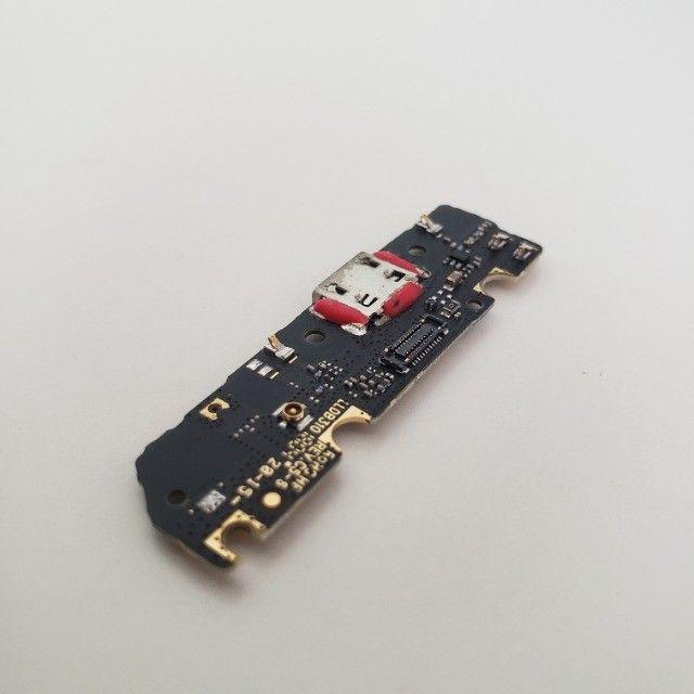 Conector quebrado - Placa Conector Carga Motorola Moto G6 Play XT1922-5 - Foto 5